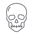 Skull line icon sign on