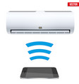 split air conditioner house system vector image vector image