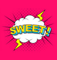 sweet comic cartoon explosions vector image