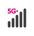 technology icon network sign 5g vector image