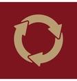 The waste processing icon Bio symbol Flat vector image