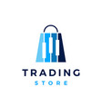 trading store shop financial candlestick shopping vector image