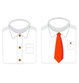 Two white shirts vector image vector image