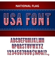 USA flag font vector image vector image