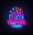 vape shop neon sign vaping store logo vector image vector image