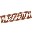 washington brown square stamp vector image vector image
