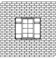 window on a brick wall vector image
