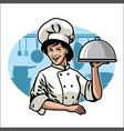 woman chef design vector image
