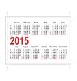 Template pocket calendar 2015 vector image