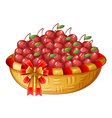 A basket of cherries vector image vector image
