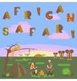 African safari concept vector image vector image