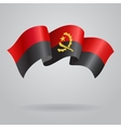 Angolan waving Flag vector image vector image