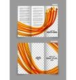 Arrows tri-fold brochure vector image