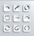 Arrows Web Icons Set vector image