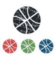 Basketball grunge icon set vector image vector image