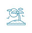 beach holidays linear icon concept beach holidays vector image vector image