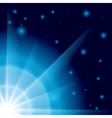 blue background with flash in the corner vector image vector image