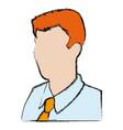 business man portrait character wear shirt tie vector image