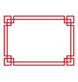 chinese border design vector image vector image
