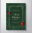 christmas abstract greeting card or holiday vector image