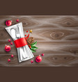 christmas holiday restaurant cafe menu 3d vector image