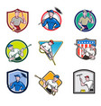 cleaner icon cartoon set vector image vector image