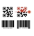 code bar design vector image vector image