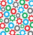 Cog wheel seamless color pattern vector image vector image