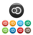 coin icons set color vector image vector image