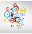 Colorful Abstract cogs - gears vector image vector image