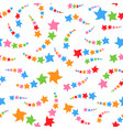 colorful seamless pattern of cute stars on a white vector image