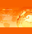 concept global planet earth point orange vector image vector image