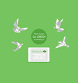 concept of white paper bird fly paperless go green vector image