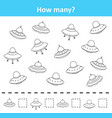 counting game for preschool children count how ma vector image vector image