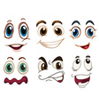 Different facial expressions vector image