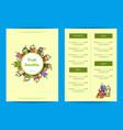 doodle smoothie cafe or restaurant menu vector image