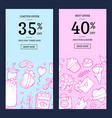 doodle wedding sale web banner vector image