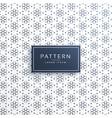 elegant line flower pattern background design vector image vector image