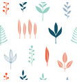 floral simple minimalist seamless pattern vector image vector image
