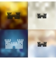 fortress icon on blurred background vector image