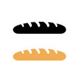 french bread baguette logo vector image