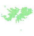 green hex tile falkland islands map vector image vector image