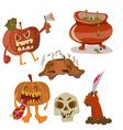 Halloween color funny set vector image vector image