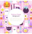 Halloween Trick or Treat Trendy Background vector image vector image