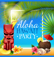 hawaiian party frame vector image vector image