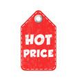 hot price hang tag vector image