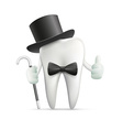 Human tooth Stock vector image vector image