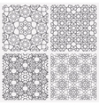 Islamic Seamless Patterns vector image vector image