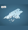 isometric 3d guinea-bissau map concept vector image vector image