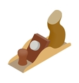 Jack-plane tool icon isometric 3d style vector image